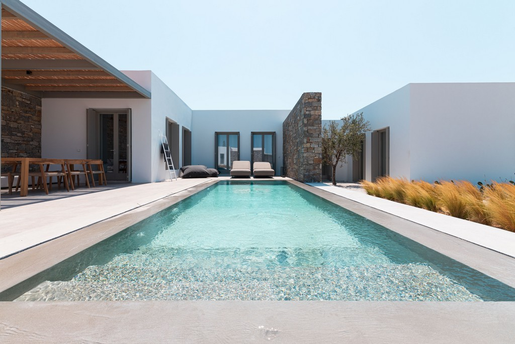 The pool in Cove, a new resort in Paros
